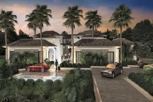 Villa-Bauprojekt in Fußläufigkeit zu Puerto Banus und Strand in Marbella