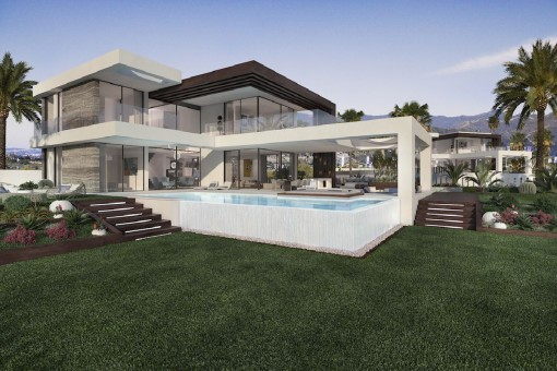 12 unabhängige Villen mit einzigartigem und modernem Design an der New Golden Mile in Estepona