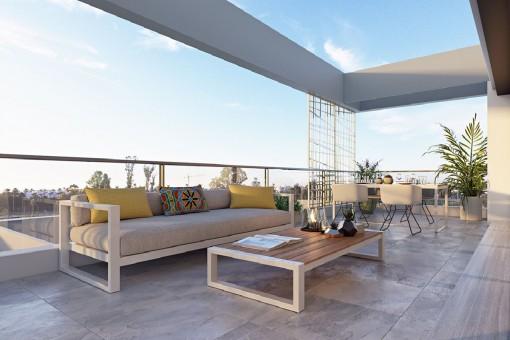 Geräumige, erhöhte Neubauwohnung im Erdgeschoss in Estepona