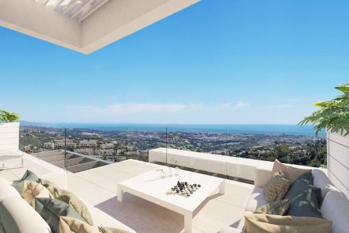 Fantastisches Penthouse mit 3 Schlafzimmern und herrlichem Blick in Valley Hills, Benahavis