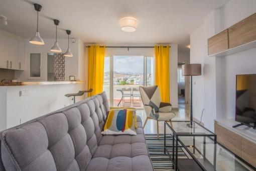 Sehr preiswerte 2-Zimmer-Wohnung mit fantastischem Meerblick in Riviera del Sol, Mijas, Malaga