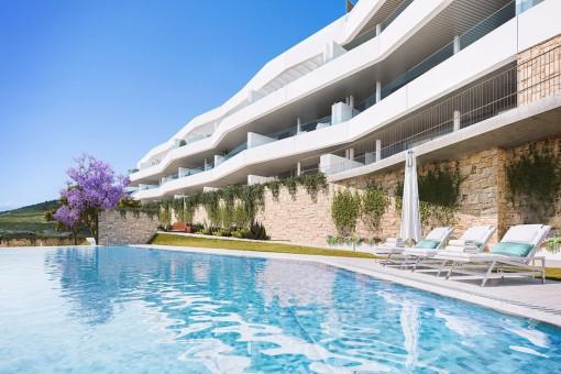 Moderne Designer-Apartments in ruhiger Lage in Estepona
