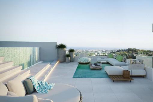 Tolle Wohnung in umweltfreundlicher Anlage mit Weitblick in Benahavis New Golden Mile