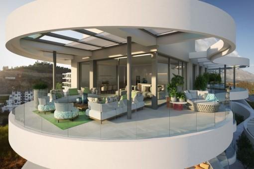 Maisonette-Wohnung in umweltfreundlicher Anlage mit herrlichem Blick in Benahavis