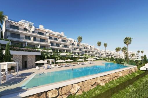 Penthouse mit Panoramablick auf das Meer in einem Off-Plan Wohnkomplex in Estepona