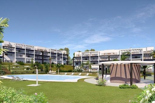 Neues Bauprojekt von 2 bis 4 Schlafzimmer-Wohnungen mit Swimmingpool und Gärten in Málaga Stadt