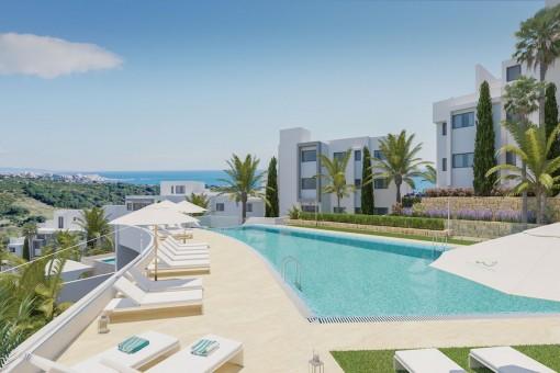 Unglaubliches Penthouse mit 3 Schlafzimmern und einem atemberaubenden Panoramablick in Estepona am Golfplatz