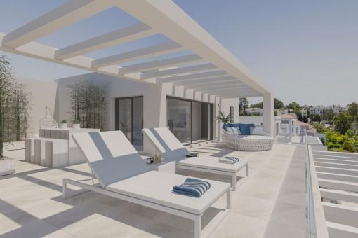 Schöne Wohnung im Erdgeschoss mit 2 Schlafzimmern zwischen Estepona und Sotogrande