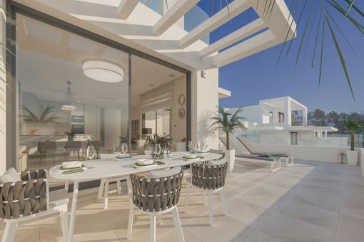 Off-Plan-Bauprojekt mit einem Penthouse mit 3 Schlafzimmern zwischen Estepona und Marbella