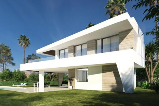 Villa im modernen Stil mit privatem Pool und 3 Schlafzimmern direkt am Golfplatz der New Golden Mile