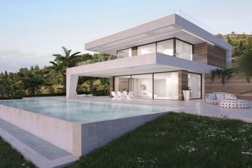Neugebaute Villa neben dem Golf Resort in Estepona