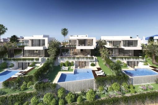 Villa-Neubau im atemberaubenden Design mit 4 Schlafzimmern in Golfplatz-Nähe in Benahavis