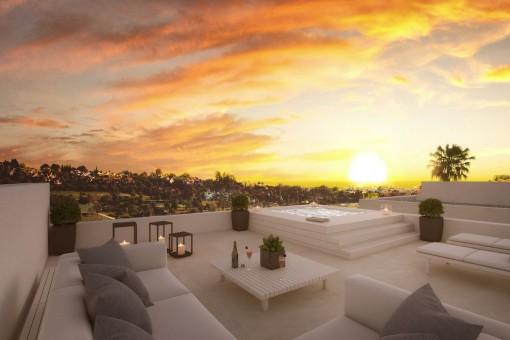Bauprojekt-Villa im atemberaubenden Design und mit Breeam-Zertifizierung und in Golf-Nähe in Benahavis