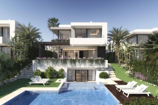 Villa-Neubau mit 4 Schlafzimmern und Breeam-Zertifizierung, in Golfplatz-Nähe in Benahavis