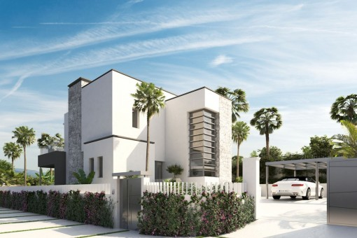 Ökologische und moderne Neubauvilla mit 6 Schlafzimmern in der Nähe von Puerto Banus, Marbella