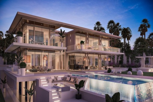 Atemberaubende geräumige Familienvilla mit Panoramablick in Benahavís