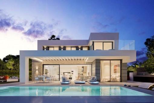 Villa im modernen Stil mit atemberaubender Blick und 3 Schlafzimmern am Golfplatz Cabopino