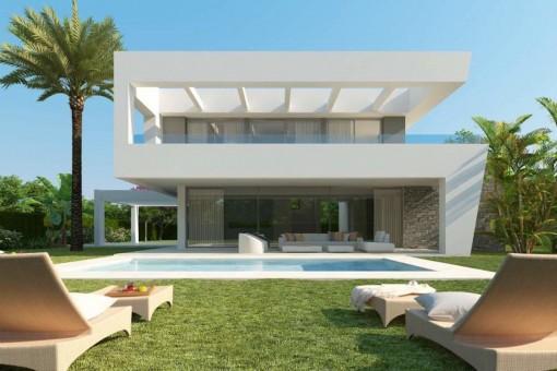 Ultramoderne 3-Schlafzimmer-Luxusvilla in Marbella West, kurz vor der Fertigstellung
