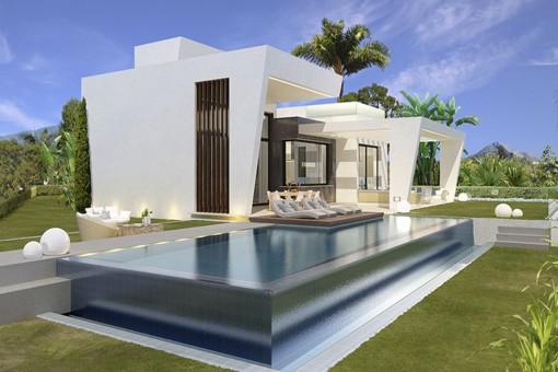 Exklusive Villen mit Innenhof, privaten Gärten, Terrassen und Swimmingpool in Limonar, Málaga