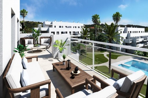 Herausragende Wohnungen in einer Wohnanlage in La Cala de Mijas, Málaga