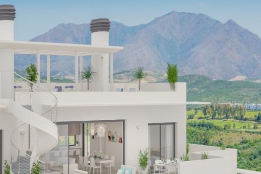 Toller Meerblick! Modernes Stadthaus mit 3 Schlafzimmern im besten Golf-Resort von Casares, Malaga