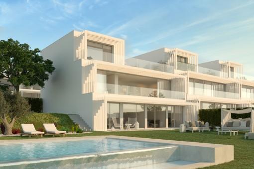 Luxuriöse, 6-Schlafzimmer-Villa im zeitgenössischen Stil mit Meerblick und Blick auf den Golfplatz in Sotogrande