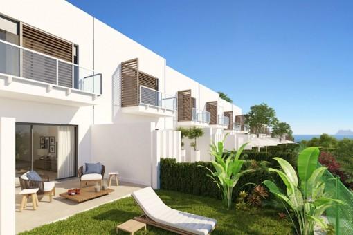 Fantastisches, modernes Off Plan Stadthaus mit 4 Schlafzimmern in unmittelbarer Nähe zum Strand und zum berühmten Sotogrande