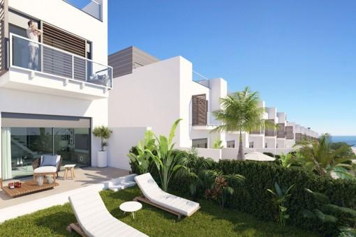 Eindrucksvolles, modernes Off Plan Stadthaus mit 3 Schlafzimmern in unmittelbarer Nähe zum Strand und zum berühmten Sotogrande