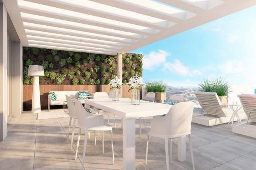Wohnungen und Penthouse-Wohnungen in privater Wohngemeinschaft mit Swimmingpool in La Cala de Mijas
