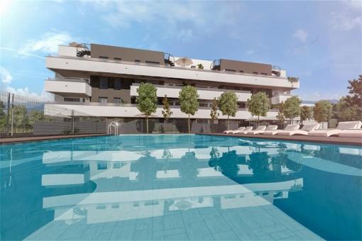 Atemberaubende 2-3 Schlafzimmer Wohnungen in einer der modernsten Gegenden von Málaga-Stadt