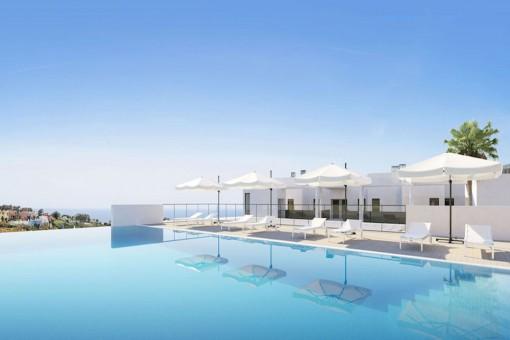 Bauprojekt: Modernes 3-Zimmer-Penthouse mit Meerblick und einer großen Sonnenterrasse in Manilva, in der Nähe von Sotogrande