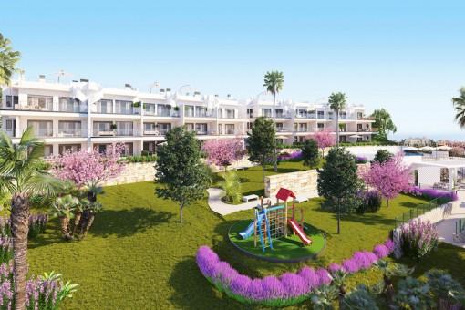 Bauprojekt: 3-Zimmer-Apartment mit Meerblick in Manilva, in der Nähe von Sotogrande