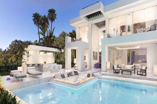 Atemberaubende Designervilla mit Panoramablick in Nueva Andalucía