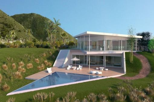 Spektakuläre Villa im Luxusresort Higuerón in Benalmádena