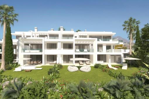 Beeindruckendes Neubau-Apartment im Erdgeschoss in Casares
