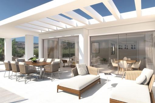Modernes Penthaus mit Panoramablick in Casares