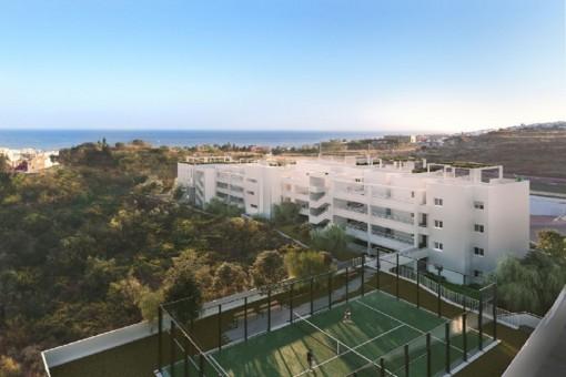 Apartment-Komplex nahe am Meer gelegen