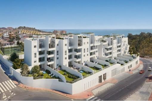 Ruhige und kleine Wohnanlage mit Apartments von ein bis 3 Schlafzimmern in Rincón Victoría, Málaga