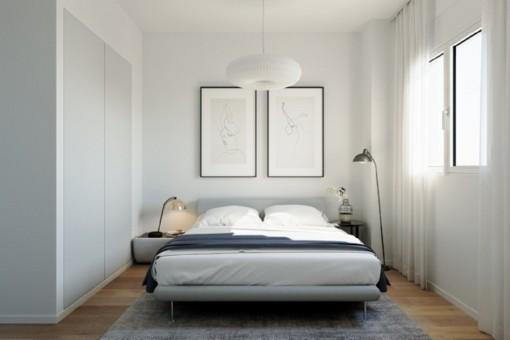 Lichtdurchflutetes Doppelschlafzimmer