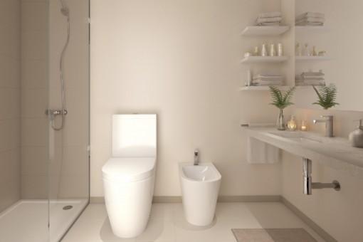 Puristisch designtes Badezimmer