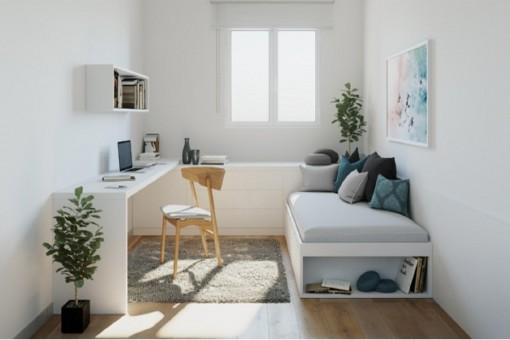 Platzsparend designtes Zimmer