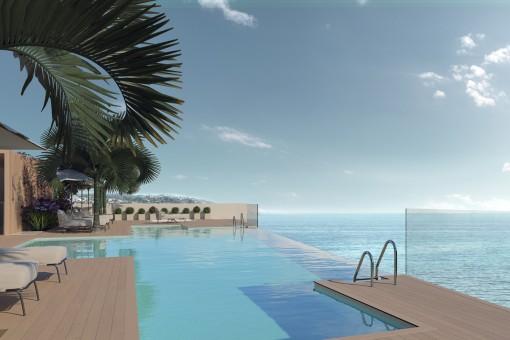 Beeindruckende Neubauwohnung am Strand mit tollem Ausblick in Estepona