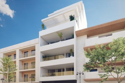 Geräumiges Penthouse am Strand in einer schönen Wohnsiedlung in Estepona