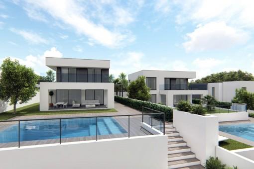 Neue Familien Villa in Meernähe in Manilva