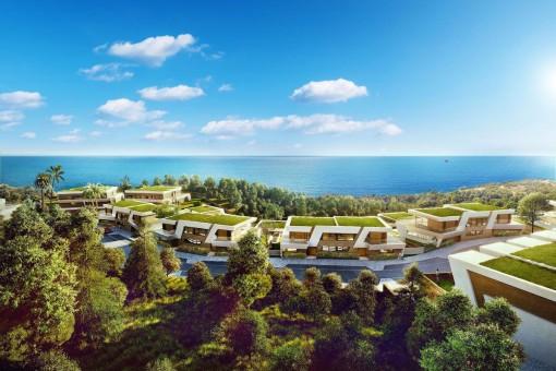 Einzigartige Villa als Bauprojekt in Mijas Costa in fußläufiger Entfernung zum Strand