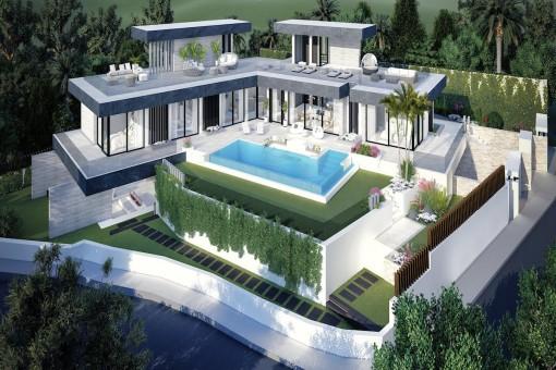 Eindrucksvolle Villa im zeitgenössischen Stil in Benahavis