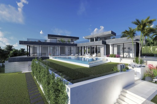 Beeindruckende Villa als Bauprojekt mit 5 Schlafzimmern an der Küste von Benahavis