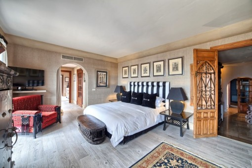 Idyllisches Schlafzimmer en Suite