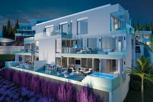 Beeindruckendes offen gestaltetes Penthouse mit 3 Schlafzimmern und herrlicher Aussicht in Mijas