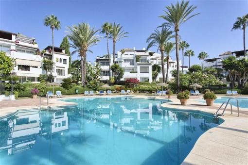 Fantastisches Apartment am Strand mit herrlichem Meerblick - Neue Goldene Meile, Estepona